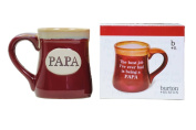 Papa Best Job Ever Porcelain Burgundy Coffee Tea Mug Cup 530ml Gift Box
