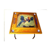 Gallos Domino Table with Cuba Flag