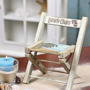 Beach Deco Only Folding Small Chair Painted Wood
