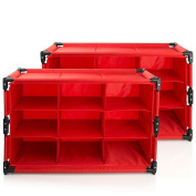 Origami RSF-TP-R Everything Organiser Twin-Pack, Red