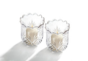 Pr Crystal Votives Cut Design