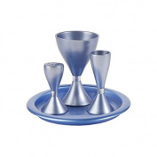 Blue Anodize Aluminium Havdalah Set