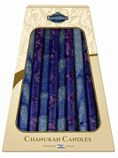 Majestic Giftware SC-CP37 Safed Handcrafted Hanukkah Candles, 15cm , Blue/Purple, 45-Pack