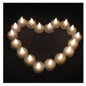 AGPtek® 100 Warm White Tea Light Candles Wedding Party Flameless Candle Light