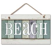 New Weathered Wood Beach Sign Coastal Wall Plaque Decor