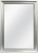 MCS Silver Beaded Rectangular Wall Mirror, 80cm by 110cm