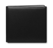 Pioneer 30cm by 30cm Postbound Leather Family Treasures Memory Book, Black