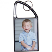Black 2x3 Snap-In Photo Carabiner Keychain