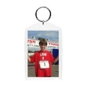 Plastic Photo Snap-in Key Chain - 5.1cm x 7.6cm
