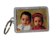 12 Acrylic Photo Picture Frame Key Chains