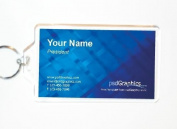 Acrylic Photo Snap-in Business Card Size Key Chain - 5.1cm x 8.9cm