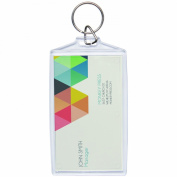 Acrylic Photo Snap-in Business Card Size Key Chain - 25 Pack