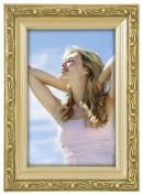 Malden International Designs Traditions Moulding Wooden Picture Frame, 10cm by 15cm , Gold Bezel