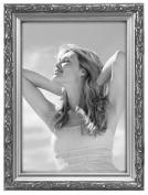 Malden International Designs Fashion Metals Bezel Wooden Picture Frame, 13cm by 18cm , Silver
