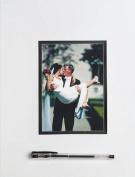 Wilton White 20cm X 25cm Photo Wedding, Anniversary & Graduation Autograph Mat Keepsake ~ Guests or Fellow Students & Teachers Sign the Border & You Frame It for a Memorable Collectible That Lasts a Lifetime!