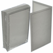 Briyar Cardboard Photo Folder Frame for 10cm x 15cm Pictures, Marble Grey