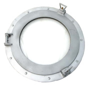 38cm Aluminium Porthole Window - Nautical Ship Decor