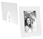 White cardstock photo DUAL EASEL frame w/plain border sold in 25s - 5x7