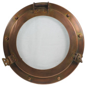 28cm Iron Porthole Window - Nautical Port Hole - Ship Decor
