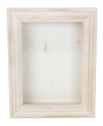 Darice 9184-76 Natural Wood Shadow Box Frame, 13cm