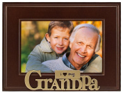 Malden I Heart Brass Word Grandpa Picture Frame, 10cm by 15cm
