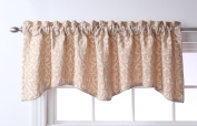 Stylemaster Twill and Birch Bryce Chenille Scalloped Valance with Cording, 140cm by 43cm , Sand
