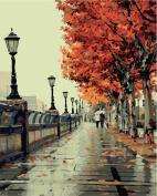 Diy Oil Painting, Paint By Number Kit- Romantic Love Autumn 16*50cm