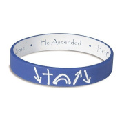 Royal Blue and White reversible Witness Band Silicone Bracelet