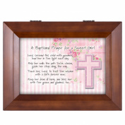 Baptismal Prayer for a Sweet Girl Wood Finish Jewellery Music Box - Plays Tune You Are My Sunshine