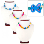 Little Girl Multicolor Wooden Bead Jewellery Set of 3
