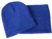 Viskey Baby Kids Warmer Cartoon Ear Caps Hat Wrap Scarf Sets Children Kids Girls Boys Cap, Blue
