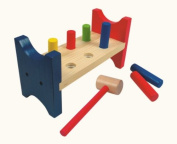 Woodyland 21.5 x 12 cm Didactic Toys Hammer Pegs