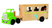 Woodyland 30.5 x 16 x 7 cm Didactic Toys Truck with The Horse Trailer