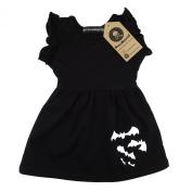 Metallimonsters Black Bats baby dress