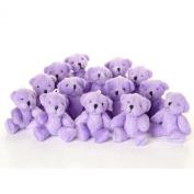 NEW Cute And Cuddly Little PURPLE Teddy Bear X 14 - Gift Present Birthday Xmas