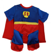 Super Bear Superman Super Ted Outfit fits 15-16 inch (40cm) Teddies & Build a Bear