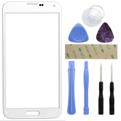 Fenzer White Replacement Glass Lens Screen for Samsung Galaxy S5 S 5 with 8 Piece Tool Kit