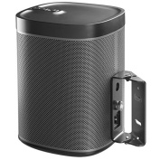 Surround Sound Swivel Wall Mount Suitable for Sonos Play:1 Black with 15 Degrees Tilt