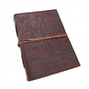 Collectible Leather Journal Mediaeval Diary Soft Paper 220 Pages (3 Styles) (L