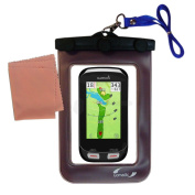 outdoor Gomadic waterproof carrying case suitable for the Garmin Approach G8 to use underwater - keeps device clean and dry