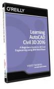 Learning AutoCAD Civil 3D 2016 - Training DVD