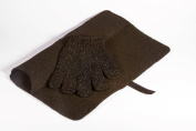 Mateque Black Heatproof Mat & Heat Proof Heat Resistant Protection Glove For Hair Straighteners/Wands Tongs