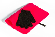 Mateque Gorgeous Pink Heatproof Mat & Heat Proof Heat Resistant Protection Glove For Hair Straighteners/Wands Tongs