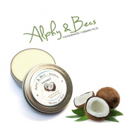 Natural Lip Balm Tin With Mango Butter - Cocoa Butter - Avocado Oil - Vitamin E - 15ml - Coconut