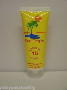 5 X SUN TROPIC ANTI AGE WATER RESIST SPF 15 SUN LOTION 5 X 100ml