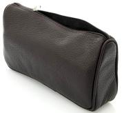 TOILET BAG / COSMETIC BAG TOILETRY BAG LEATHER BLACK