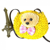 Cute New Candy Colour Bowknot Bear Knitted Small Crossbody Shoulder Bags