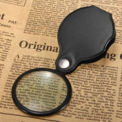 Man Friday 5X Pocket Folding Magnifier with Magnifying Glass Pouch