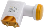 Golden Media High Gain Universal Twin LNB with Gold-Plated Contacts Full HD, 4 K