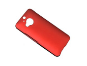 Colourful Custom Fit Ultra Slim Thin Clear PC Polycarbonate Plastic Hard Protective Snap on Back Case Cover For HTC One M9+ / M9 Plus with Screen Protector Red
